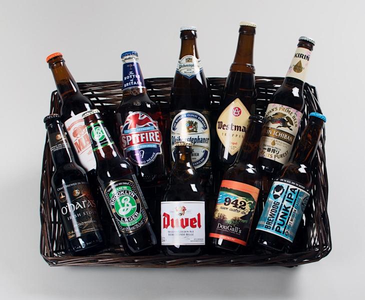 Cesta solo cerveza